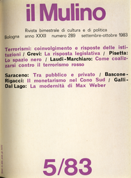 Copertina del fascicolo dell'articolo Per una storia del terrorismo nero