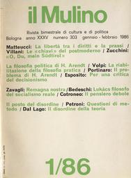 Copertina del fascicolo dell'articolo Lukács filosofo del socialismo reale