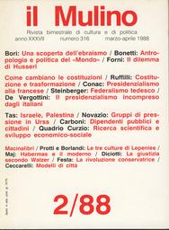 Copertina del fascicolo dell'articolo La rivoluzione conservatrice in Italia