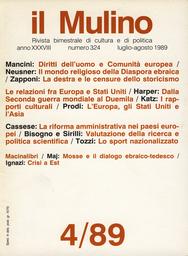 Copertina del fascicolo dell'articolo La valutazione della ricerca nella formulazione della politica scientifica in Italia