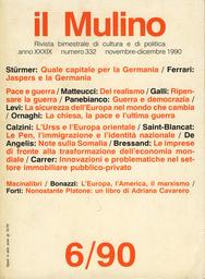 Copertina del fascicolo dell'articolo Salvadori: l'Europa, l'America, il marxismo