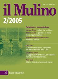Copertina del fascicolo dell'articolo I giovani e le nuove forme di partecipazione