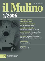 Copertina del fascicolo dell'articolo Infrastrutture e politica dei trasporti