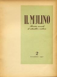 Copertina del fascicolo dell'articolo Missa sine nomine, di Ernst Wiechert
