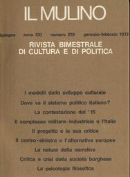 Copertina del fascicolo dell'articolo Una ricerca di confine: la psicologia filosofica