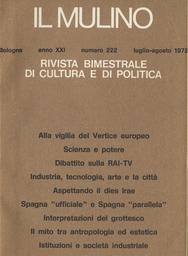 Copertina del fascicolo dell'articolo Il monopolio radiotelevisivo e la società italiana