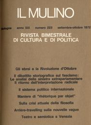 Copertina del fascicolo dell'articolo Alle origini del fascismo: il ritorno dell'interpretazione radicale