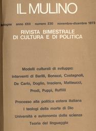 Copertina del fascicolo dell'articolo l'Italia e la nuova politica internazionale