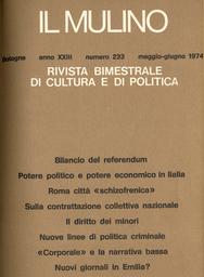 Copertina del fascicolo dell'articolo Potere politico e potere economico in Italia