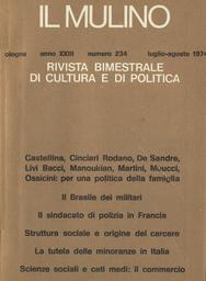 Copertina del fascicolo dell'articolo Scienze sociali e ceti medi: il problema del commercio