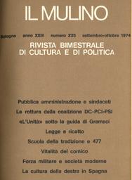 Copertina del fascicolo dell'articolo Riflessioni sommarie del viaggiatore politico