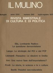 Copertina del fascicolo dell'articolo Due saggi sul pensiero politico di Maritain