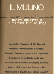 Copertina del fascicolo dell'articolo Programmazione e sinistre negli anni '60