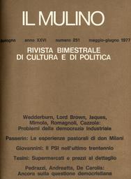 Copertina del fascicolo dell'articolo Strutture organizzative per una nuova strategia nella società italiana