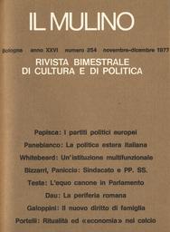 Copertina del fascicolo dell'articolo I partiti politici europei, ovvero: il