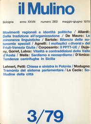 Copertina del fascicolo dell'articolo I mutamenti della natura dei movimenti etnici: dalla tradizione all'organizzazione