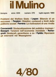 Copertina del fascicolo dell'articolo Lo Stato del benessere: vittima del suo successo